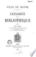 Catalogue de la bibliothèque
