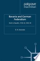Bavaria and German Federalism