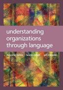 Pdf Understanding Organizations through Language Telecharger