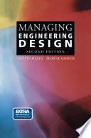 Managing Engineering Design Book