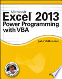 Cover of Excel 2013 Power Programming with VBA