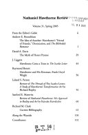 The Nathaniel Hawthorne Review