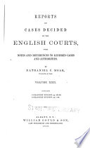 Reports of Cases Decided by the English Courts Book PDF