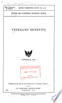 Title 38, United States Code; Veterans' Benefits