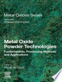 Metal Oxide Powder Technologies Book PDF