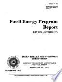 Fossil Energy Program Report