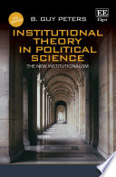 Institutional Theory In Political Science Fourth Edition