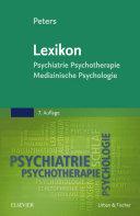 Lexikon Psychiatrie, Psychotherapie, Medizinische Psychologie