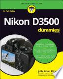 Nikon D3500 For Dummies