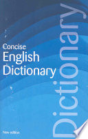 Concise English Dictionary Book