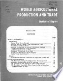 World Agricultural Production and Trade