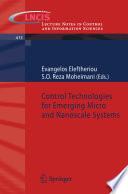 Control Technologies for Emerging Micro and Nanoscale Systems