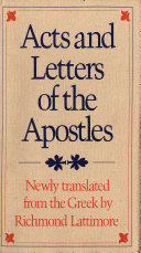 Acts and Letters of the Apostles [Pdf/ePub] eBook