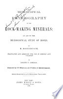 Microscopical Physiography of the Rock making Minerals Book