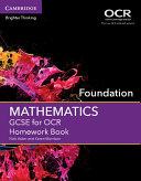 GCSE Mathematics for OCR Foundation Homework Book