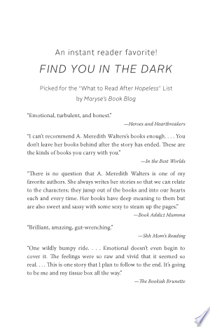 Download Find You in the Dark Free Books - Read Books