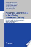Privacy and Security Issues in Data Mining and Machine Learning