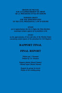 Rapprochement du Droit Judiciaire de l Union Europeenne Approximation of Judiciary Law in the European Union