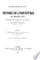 Histoire de l inquisition au moyen   ge