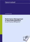 Performance Management im Beschaffungsbereich
