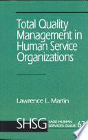 Total Quality Management In Human Service Organizations Book PDF