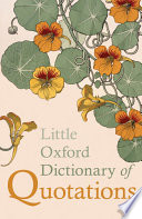 Little Oxford Dictionary Of Quotations PDF