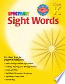 Sight Words  Grade K Book