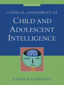 Clinical Assessment of Child and Adolescent Intelligence [Pdf/ePub] eBook