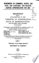 Justification of the budget estimates  Department of Commerce  pt  2  Justification of the budget estimates  Department of Justice