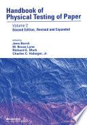 Handbook Of Physical Testing Of Paper Book PDF