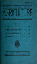 The Journal of the Ministry of Agriculture
