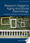 Research Design in Aging and Social Gerontology