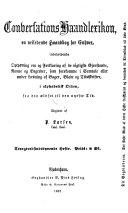 Conversations-Haandlexikon, En veiledende Haandbog for Enhver ... Ved P. Larsen