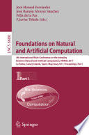 Foundations On Natural And Artificial Computation Book PDF