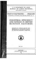 Bulletin Of The United States Bureau Of Labor Statistics No 230 1917