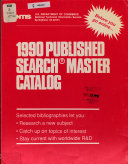 Published Search Master Catalog Book