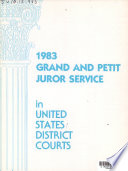 Grand and Petit Juror Service in United States District Courts