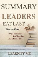 Summary L Leaders Eat Last Book