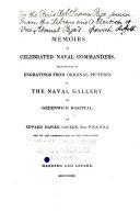 Memoirs of Celebrated Naval Commanders
