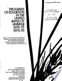Progress Of Education In The United States Of America 1974 75 And 1975 76