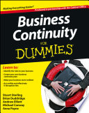 Business Continuity For Dummies Book