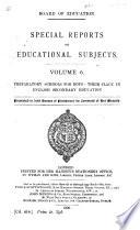 Preparatory Schools for Boys