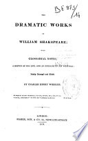 """""""The Dramatic Works of William Shakspeare"""" by William Shakespeare"""