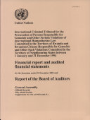 Financial Report and Audited Financial Statements for the Biennium Ended 31 December 2003 and Report of the Board of Auditors