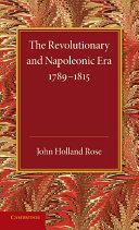 Pdf The Revolutionary and Napoleonic Era 1789-1815