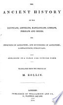 The Ancient History of the Egyptians, Assyrians, Babylonians, Lydians, Persians and Medes