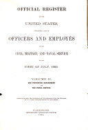 Official Register of the United States: Containing a List of ...