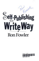 Self Publishing the Write Way