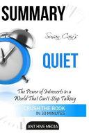 Summary Susan Cain s Quiet Book