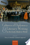 Cultures of Diplomacy and Literary Writing in the Early Modern World Book PDF